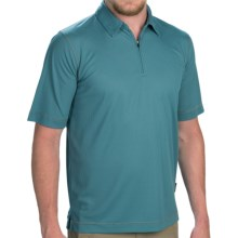 Woolrich Bowline Polo Shirt - Zip Neck, Short Sleeve (For Men) in Cov Cove - Closeouts