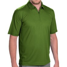 Woolrich Bowline Polo Shirt - Zip Neck, Short Sleeve (For Men) in Pine Needle - Closeouts