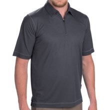 Woolrich Bowline Polo Shirt - Zip Neck, Short Sleeve (For Men) in Stb Steel Blue - Closeouts