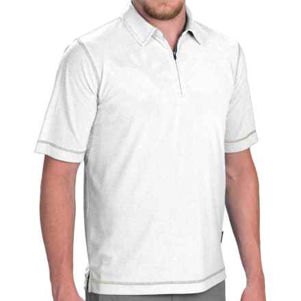 Woolrich Bowline Polo Shirt - Zip Neck, Short Sleeve (For Men) in White - Closeouts