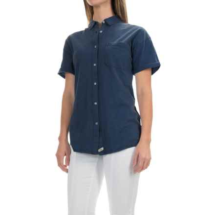 Woolrich Boyfriend Knit Shirt - Short Sleeve (For Women) in Deep Indigo - Closeouts