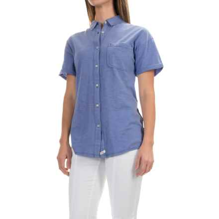 Woolrich Boyfriend Knit Shirt - Short Sleeve (For Women) in Dusk - Closeouts