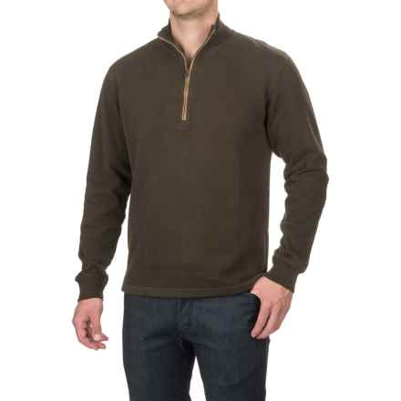 Woolrich Boysen Sweater - Zip Neck (For Men) in Dark Loden - Closeouts