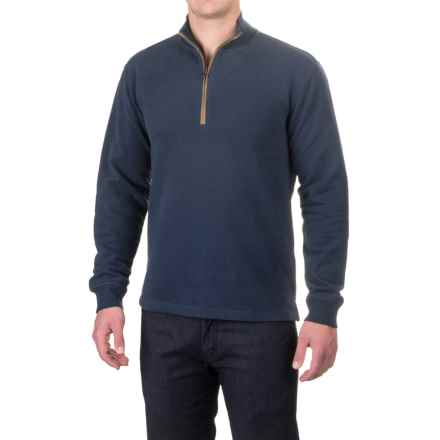 Woolrich Boysen Sweater - Zip Neck (For Men) in Deep Indigo - Closeouts