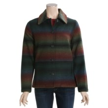 Woolrich Branton Jacket - Wool, Button Front (For Women) in Dark Pine Stripe - Closeouts