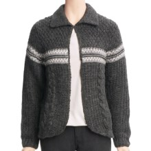 Woolrich Brighton Cardigan Sweater - Wool, Lambswool (For Women) in Onyx Heather - Closeouts