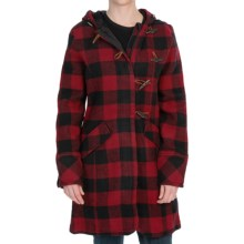Woolrich Bristol Duffle Coat - Wool (For Women) in Red/Black Plaid - Closeouts