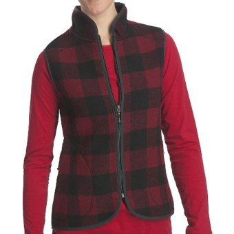 Woolrich Bristol Wool Vest (For Women) in Red/Black Plaid