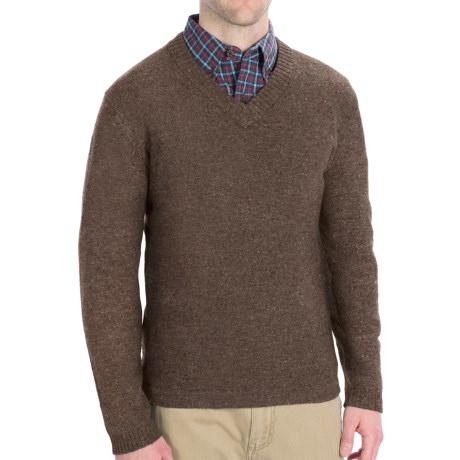 Woolrich Brookford Sweater - Lambswool (For Men) in Grey Heather
