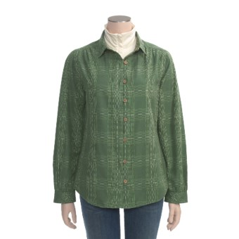 Woolrich Brookhaven Shirt - Textured Cotton Dobby, Long Sleeve (For Women) in Spruce