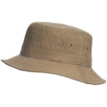 Woolrich Bucket Hat - Cotton Oilcloth (For Men) in Tan - Closeouts