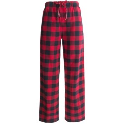 Woolrich Buffalo Check Flannel Pajama Bottoms (For Women) in Blackberry