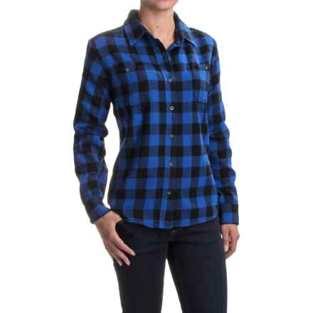 Woolrich Buffalo Check Flannel Shirt - Long Sleeve (For Women) in Blue/Black Plaid - Closeouts