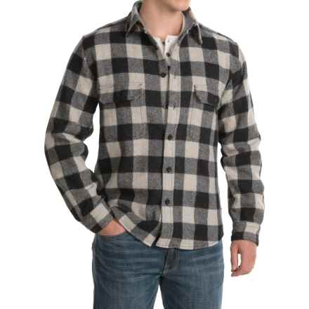 Woolrich Buffalo Check Shirt - Long Sleeve (For Men) in Black/White - Closeouts