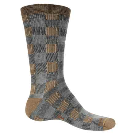 Woolrich Buffalo Check Socks - Merino Wool, Crew (For Men and Women) in Canyon - Closeouts