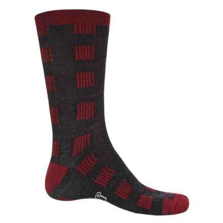 Woolrich Buffalo Check Socks - Merino Wool, Crew (For Men and Women) in Dark Ruby - Closeouts