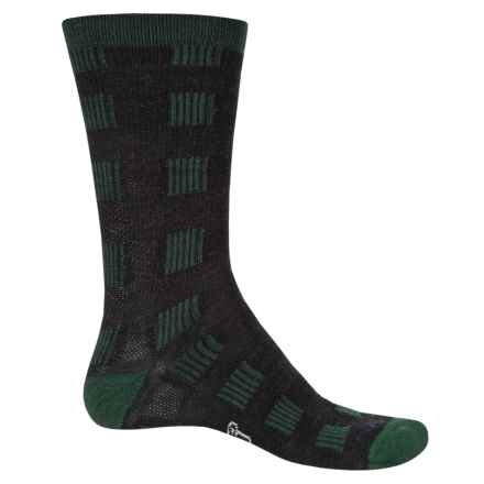 Woolrich Buffalo Check Socks - Merino Wool, Crew (For Men and Women) in Pine Grove - Closeouts