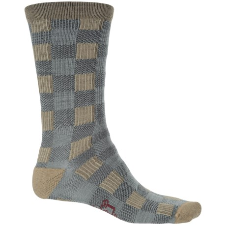 Woolrich Buffalo Check Socks - Merino Wool, Crew (For Men and Women) in Sprig