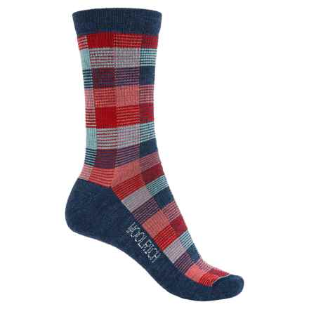 Woolrich Buffalo Check Socks - Merino Wool, Crew (For Women) in Navy - Closeouts