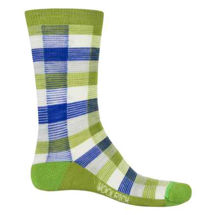 Woolrich Buffalo Check Socks - Merino Wool, Crew (For Women) in Peppergrass - Closeouts