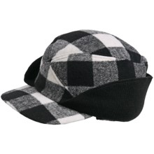 Woolrich Buffalo Check Wool Hat (For Men) in White/Black - Closeouts