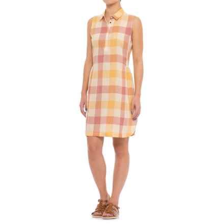 Woolrich Buffalo Shirt Dress - Organic Cotton, Sleeveless (For Women) in Mineral Yellow Check - Closeouts