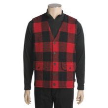 Woolrich Buffalo Vest - Wool (For Men) in Red - Closeouts