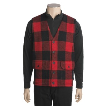 Woolrich Buffalo Vest - Wool (For Men) in Red