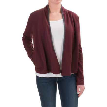 Woolrich Bur Basin Cardigan Sweater - Merino Wool, UPF 50+ (For Women) in Wine/Indigo - Closeouts