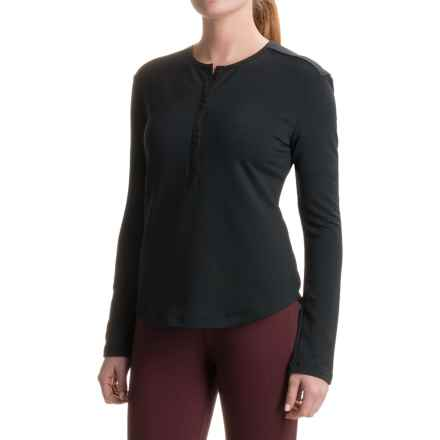 Woolrich Bur Basin Henley Shirt - UPF 50, Long Sleeve (For Women) in Black - Closeouts