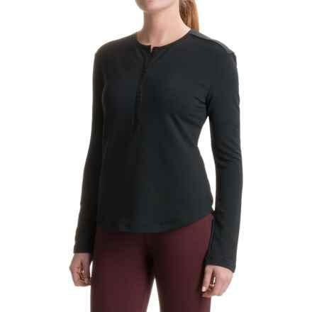 Woolrich Bur Basin Henley Shirt - UPF 50, Long Sleeve (For Women) in Black - Closeouts