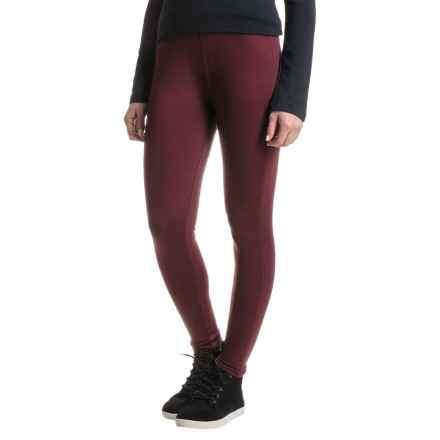 Woolrich Bur Basin Leggings - Merino Wool (For Women) in Wine. - Closeouts
