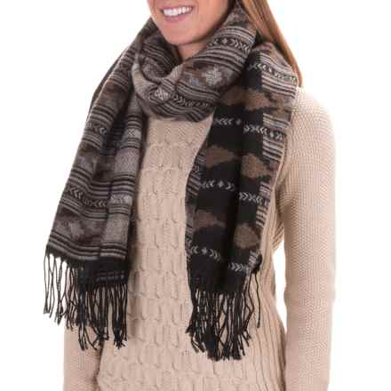 Woolrich Button Wrap (For Women) in After Dark Ikat Black - Closeouts