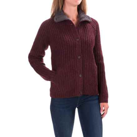 Woolrich By the Fire Cardigan Sweater (For Women) in Burgandy - Closeouts