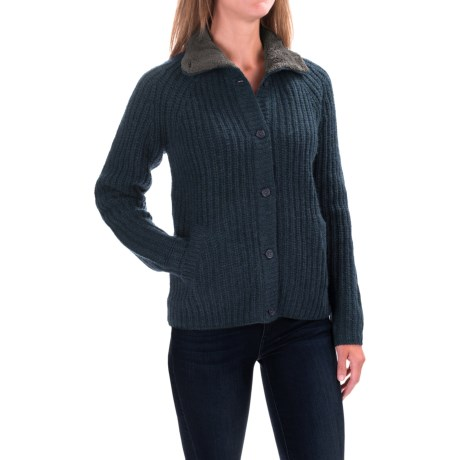 Woolrich By the Fire Cardigan Sweater (For Women) in Deep Indigo