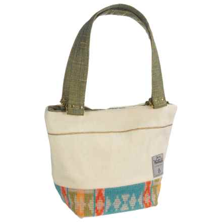 Woolrich by Unshattered Shoulder Bag (For Women) in Cream W/Turquoise/Orange/Olive Bottom - Closeouts