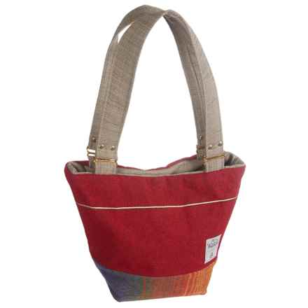 Woolrich by Unshattered Shoulder Bag (For Women) in Dark Red W/Orange/Red Bottom - Closeouts