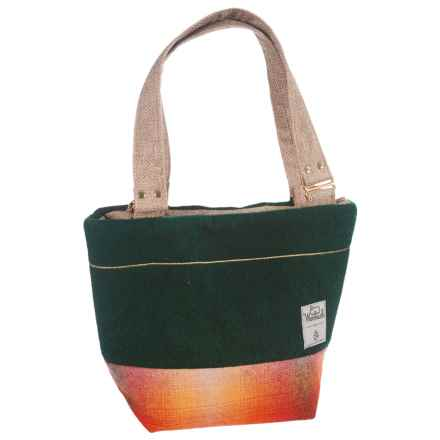 Woolrich by Unshattered Shoulder Bag (For Women) in Green W/Red Orange Bottom - Closeouts