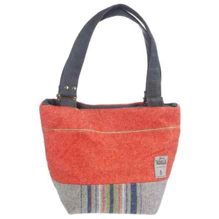 Woolrich by Unshattered Shoulder Bag (For Women) in Red Orange W/Grey/Navy/Olive Bottom - Closeouts