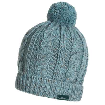 Woolrich Cable-Knit Beanie - Wool Blend (For Women) in Porcelain Blue - Closeouts