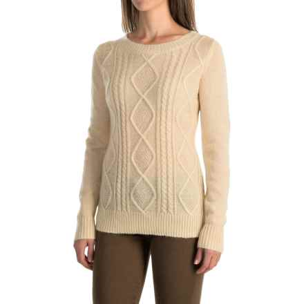 Woolrich Cable Mohair Sweater (For Women) in Wool Cream - Closeouts