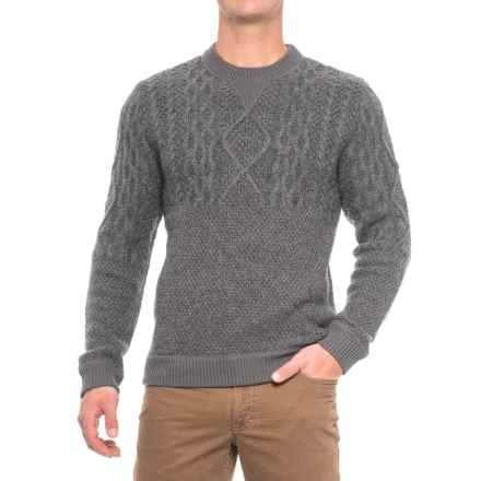 Woolrich Cable V-Neck Sweater - Lambswool Blend (For (Men) in Gray Heather - Closeouts