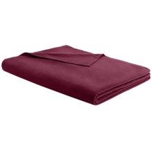 "Woolrich Camp Ridge Pillow/Throw Blanket - Microfleece, 50x60"" in Burgundy - Closeouts"