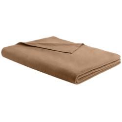 """Woolrich Camp Ridge Pillow/Throw Blanket - Microfleece, 50x60"""" in Cappucino"""