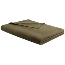 """Woolrich Camp Ridge Pillow/Throw Blanket - Microfleece, 50x60"""" in Olive - Closeouts"""