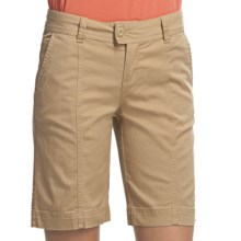 Woolrich Campbell Falls Twill Shorts - Stretch Cotton Slub (For Women) in Light Wheat - Closeouts
