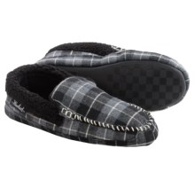 Woolrich Camper Moccasin Slippers (For Men) in Charcoal Plaid - Closeouts