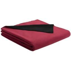 "Woolrich Camptown Travel Pillow/Throw Blanket - Microfleece, 50x60"" in Shale/Dark Green"