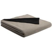 "Woolrich Camptown Travel Pillow/Throw Blanket - Microfleece, 50x60"" in Shale/Dark Green - Closeouts"