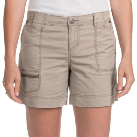 Woolrich Canoe Creek Hiking Shorts - UPF 50+, Stretch Cotton (For Women) in Dark Stone